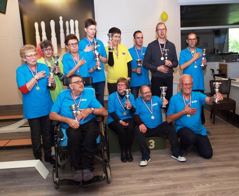 De winnaars van het G-kegelevenement te Alkmaar